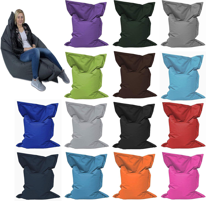 GiantBag Giant Bag Sitzsack Chill Out Liege /& Sitzkissen Indoor /& Outdoor Tobekissen Bodenkissen Sessel f/ür Kinder /& Erwachsene 100 x 70 cm, Mocca