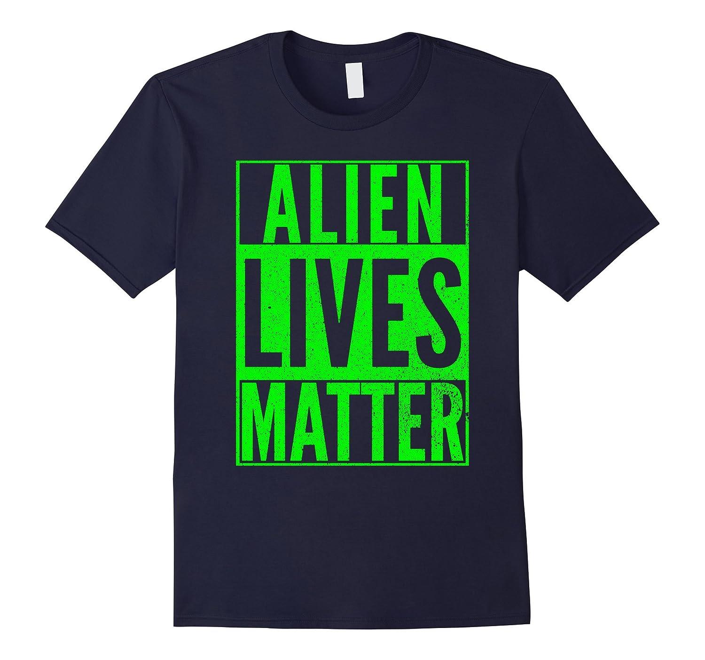 ALIEN LIVES MATTER Halloween Costume Green Nerd Dork T-Shirt-Art