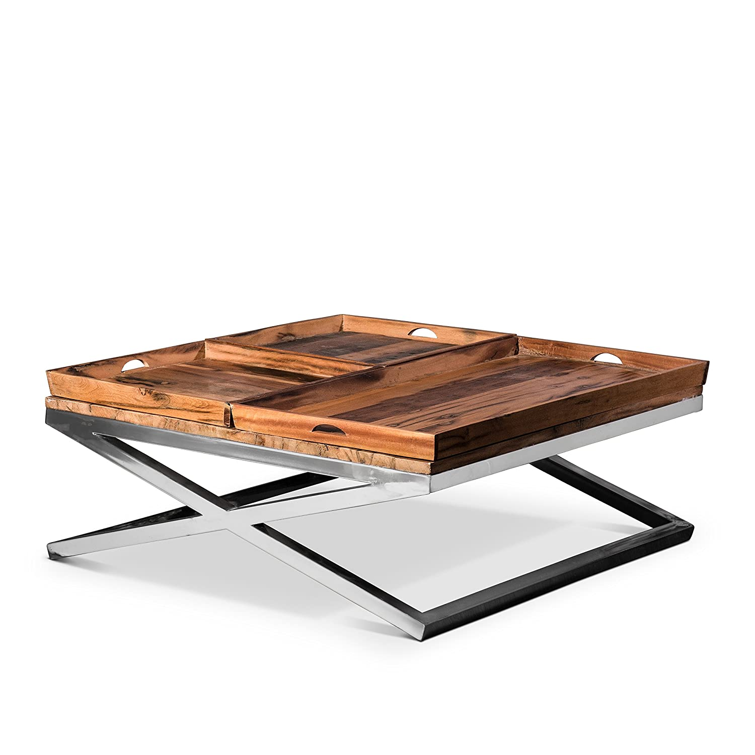Artemano CT0712143 Big Coffee Table with Three Trays - Natural