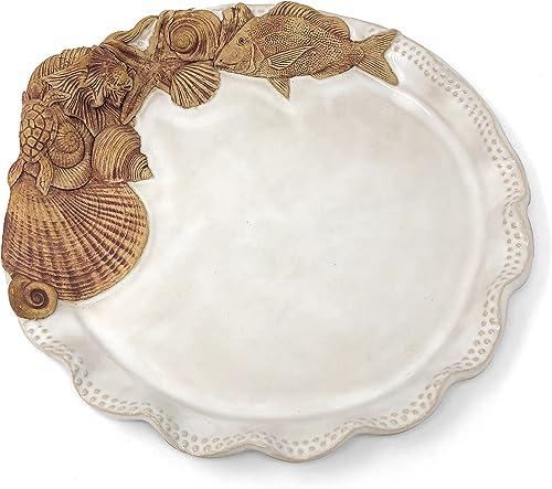 Charlestown Porcelaine Sea Creatures 12-inch Round Platter