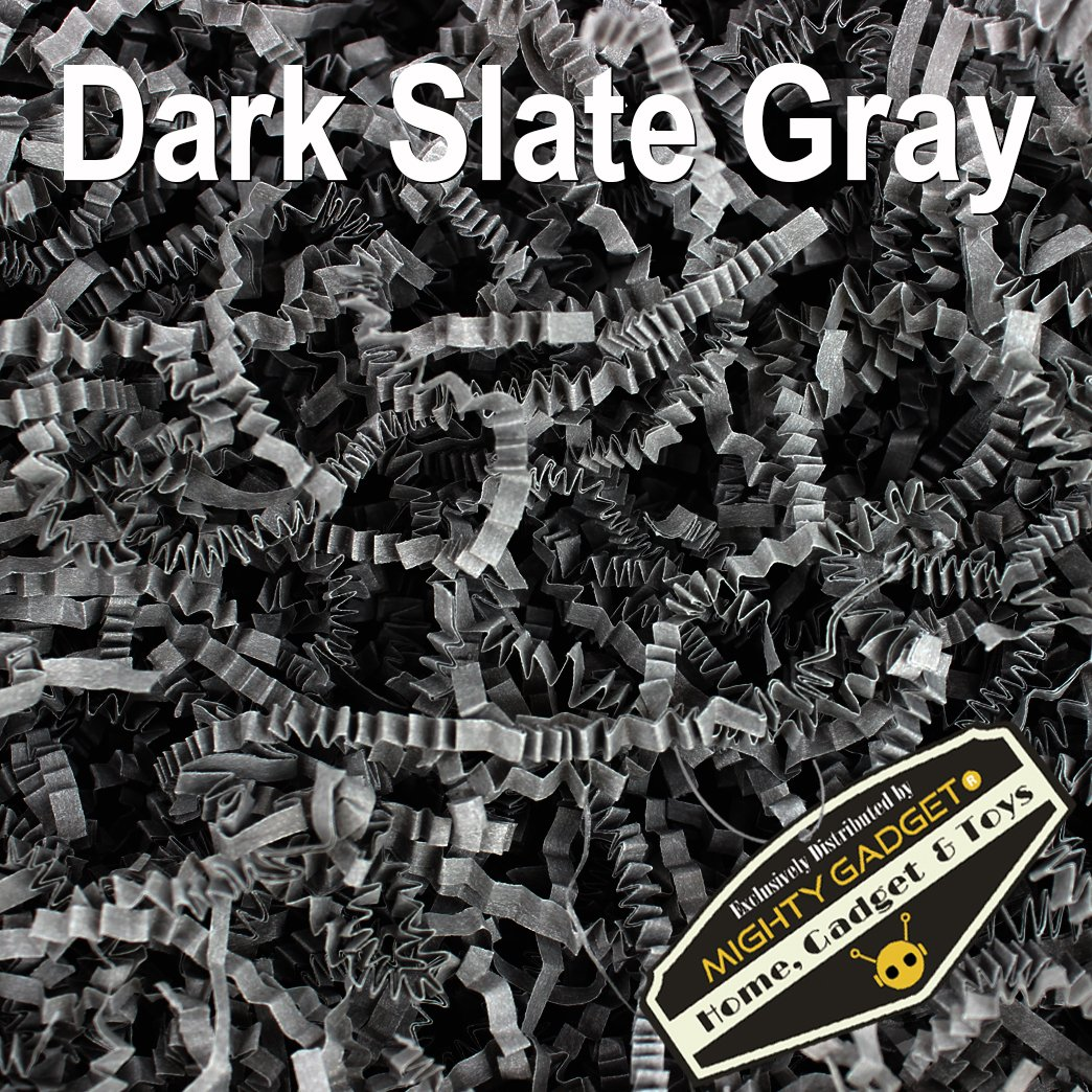 Mighty Gadget (R) 1 LB Dark Slate Gray Crinkle Cut Paper Shred Filler for Gift Wrapping & Basket Filling