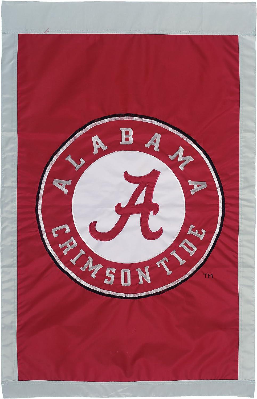 "NCAA Alabama Crimson Tide Double Sided 28"" X 44"" Applique Flag"