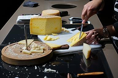 QUESERIA LA ANTIGUA DE FUENTESAUCO - Queso curado de leche cruda de oveja con azafrán Karkom D.O (3kg Aprox.): Amazon.es: Alimentación y bebidas