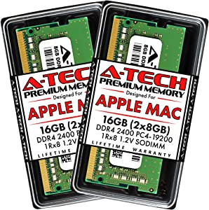 A-Tech 16GB (2x8GB) RAM for Apple 2017 iMac 27 inch Retina 5K, 21.5 inch Retina 4K | DDR4 2400MHz PC4-19200 SO-DIMM 260-Pin CL17 1.2V Non-ECC Unbuffered Memory Upgrade Kit