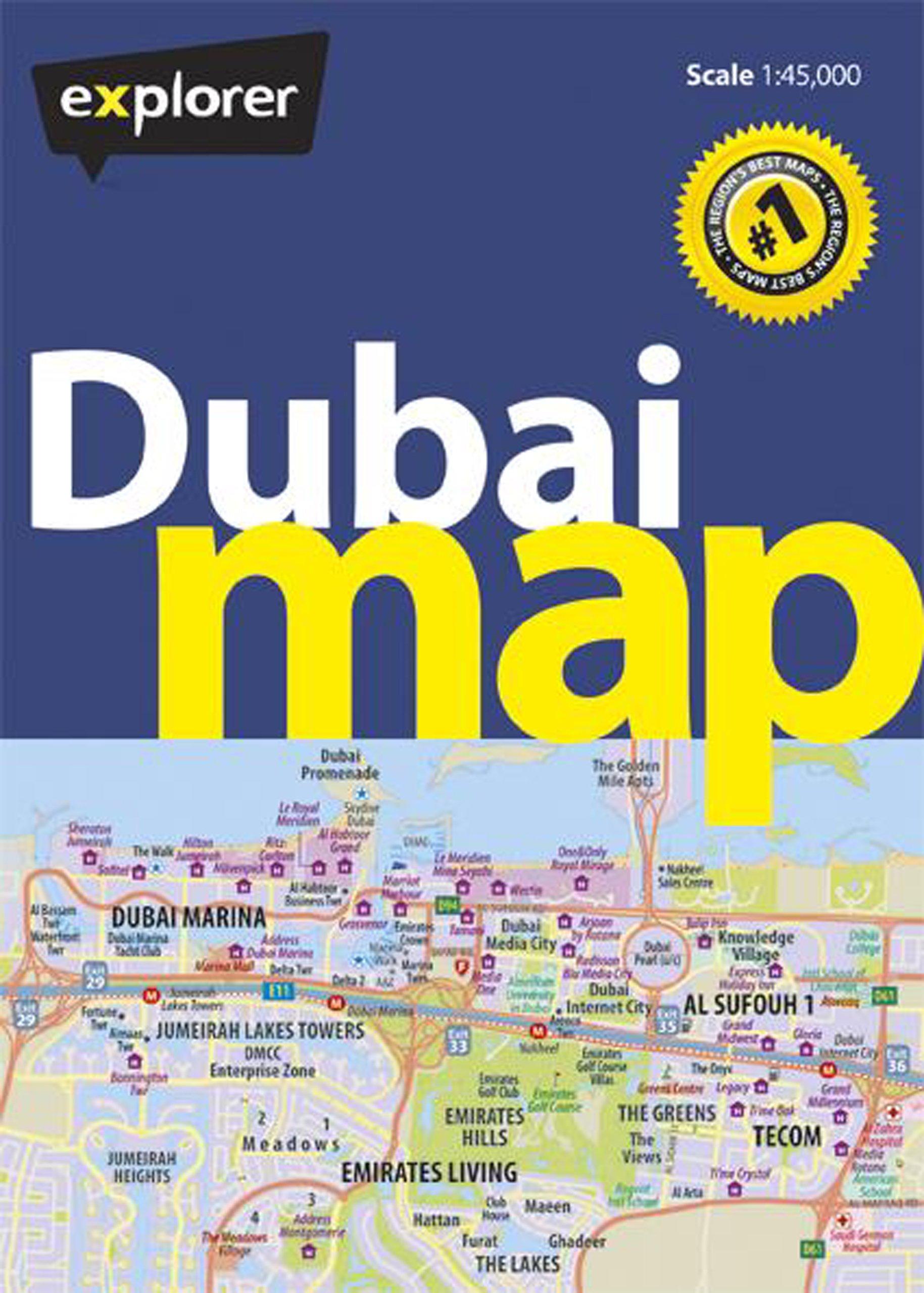 Dubai Map 1 : 45 000 (City Map)