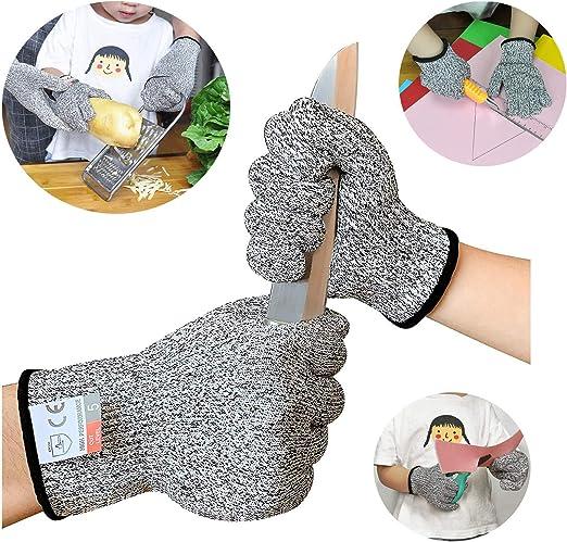 Schnittsichere Handschuhe f/ür Kinder 3-5 J/ährige lebensmittelecht Sinwind Schnitzhandschuhe Kinder Leistungsf/ähiger Level 5 Schutz XXXS