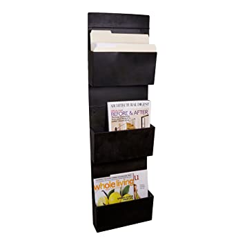 magazine rack wall mount 3 tier metal vertical file holder magazine rack antique