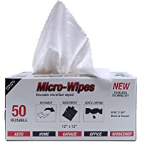 """Eurow Microfiber Wipe and Clean Cloths 12"""" x 12"""" with Dispenser Box 50 Pack"""