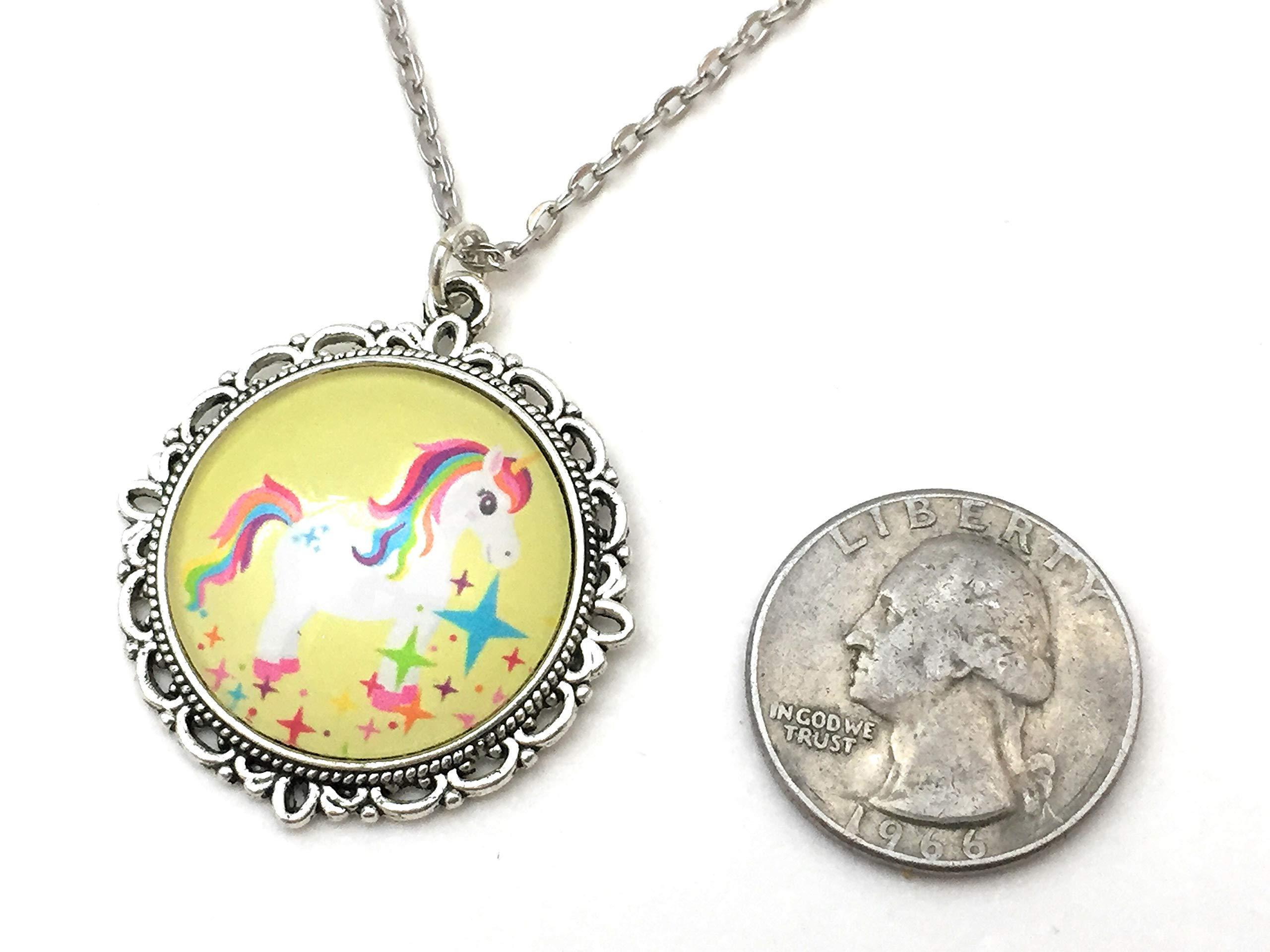 Unicorn Necklace - Rainbow Colors - Handmade 5