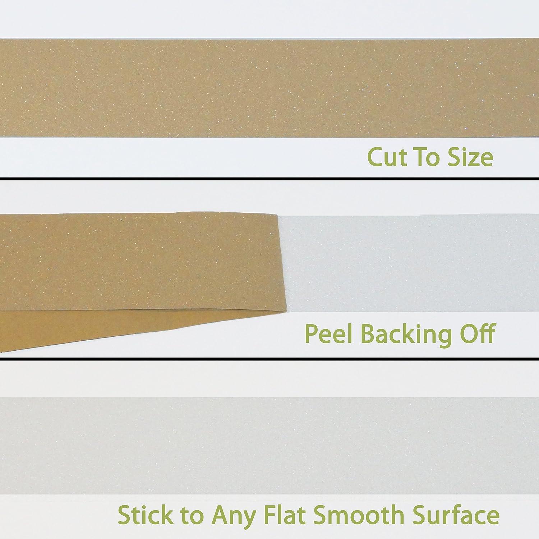 2 pouces large Installation Kit 60 pieds X 2 pouces Steady Treads Anti-d/érapant transparent exempt de PVC rouleau translucide ruban adh/ésif de Grit et rouleau
