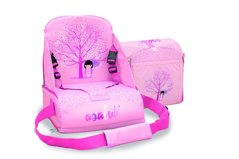 Asalvo 14016 - Trona de viaje, diseñ o flor de cerezo, color rosa diseño flor de cerezo Asalvo_14016