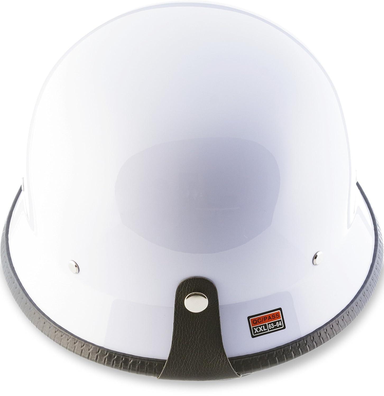 "chopper motorbike helmet jet helmet 55 cm - 64 cm retro scooter helmet for scooter or moped size: S-XXL Moto D33-Set /""Army Snow/"" grey-white brain cap bobber half shells"