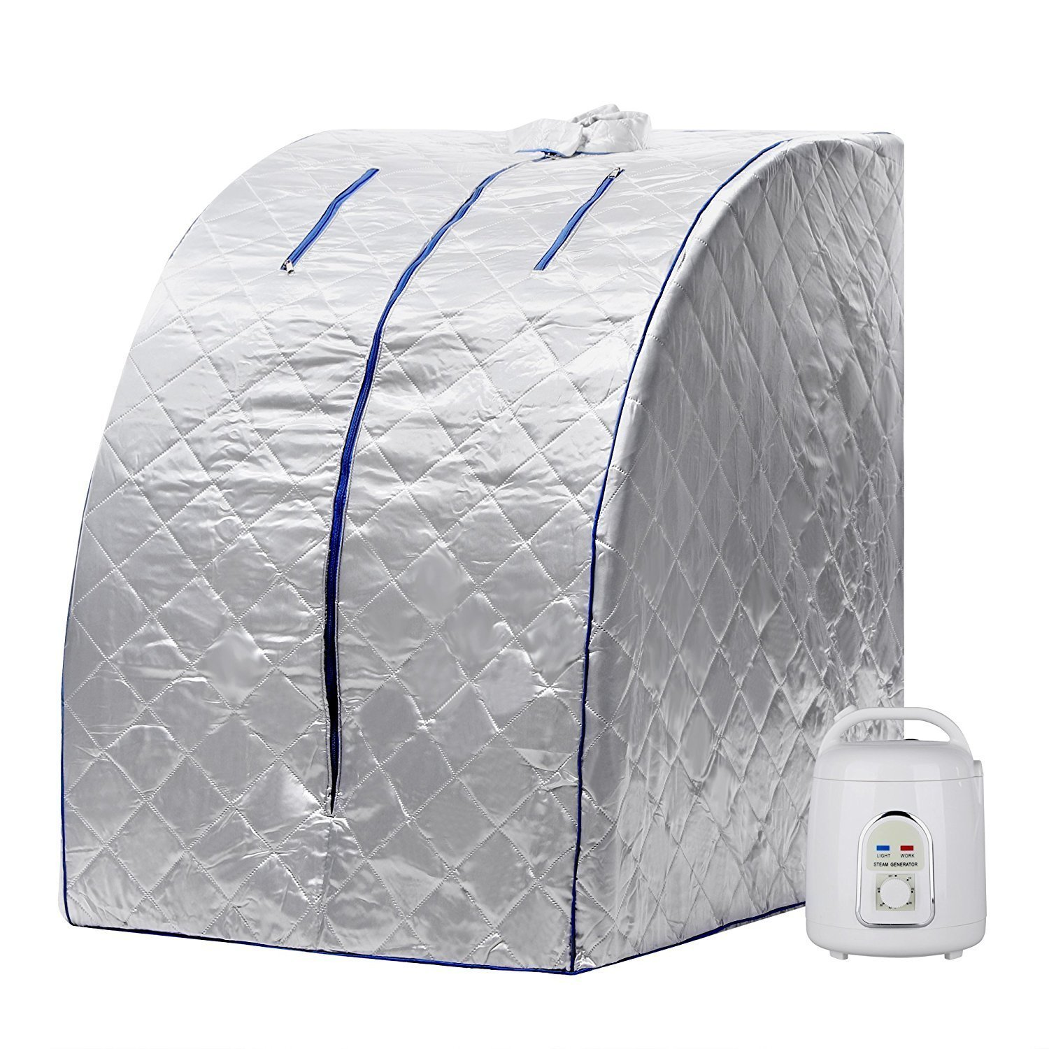 Garain Supply Xlarge Portable Indoor Personal Therapeutic Steam Sauna Spa Slim Detox Weight Loss Home, 850W (US Stock)