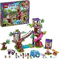 LEGO 41424 Friends Jungle reddingsbasis Set met Boomhut en Dierenkliniek, Speelgoed Dieren voor Kinderen vanaf 8 Jaar