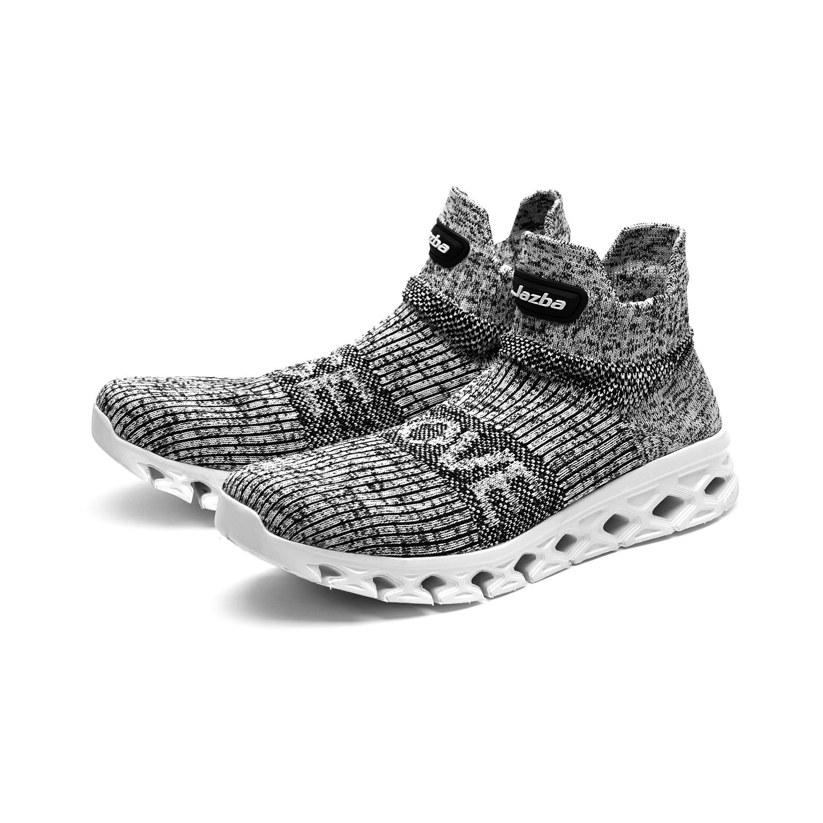 Jazba Sockun Sock Sneakers Easy On Easy Off Knitted Comfort Slip On Shoe for Men Workout Crossfit Lightweight Trainers for Yoga Travel Holiday Photography, Grey, Euro 42/US 9