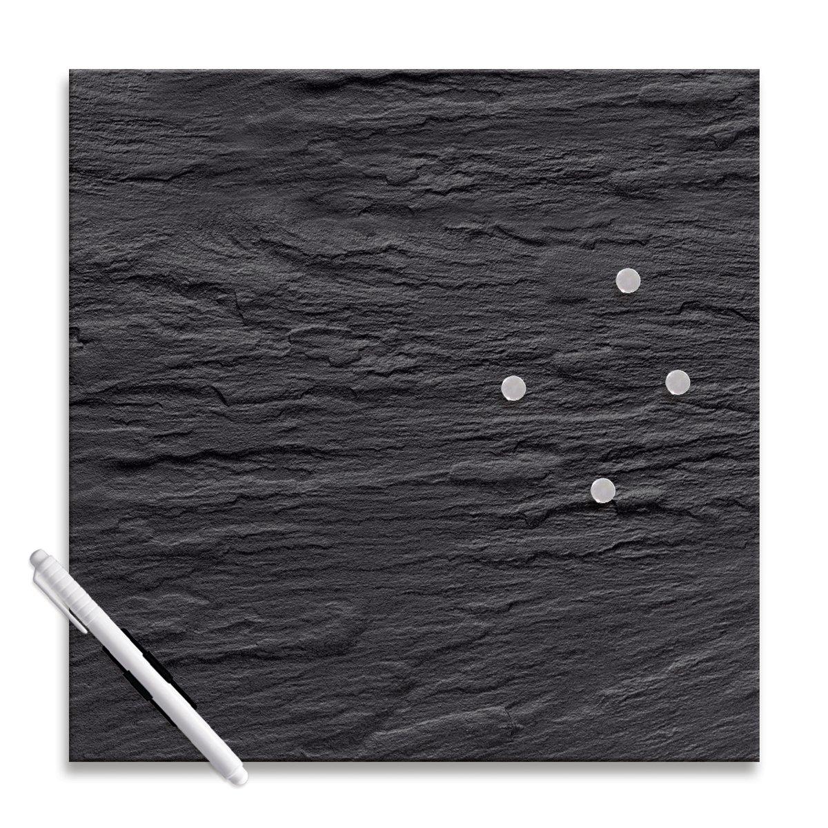 Eurographics MBDT6393 - Bacheca magnetica di vetro, dimensioni: 30 x 30 cm, colore: Nero ardesia MB-DT6393