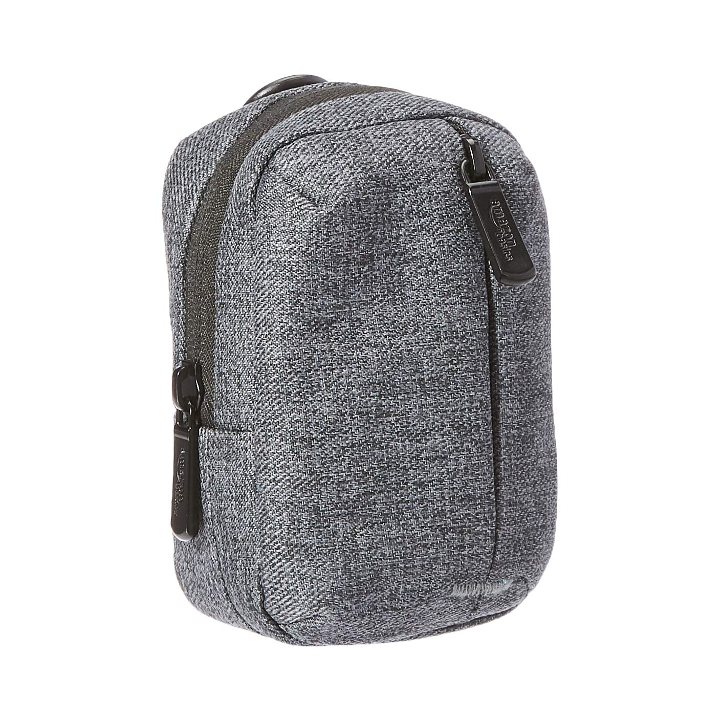 Amazon Basics Camera Pouch with Front Zippered Pocket (Water-Resistant Polyester) - Ash Gray