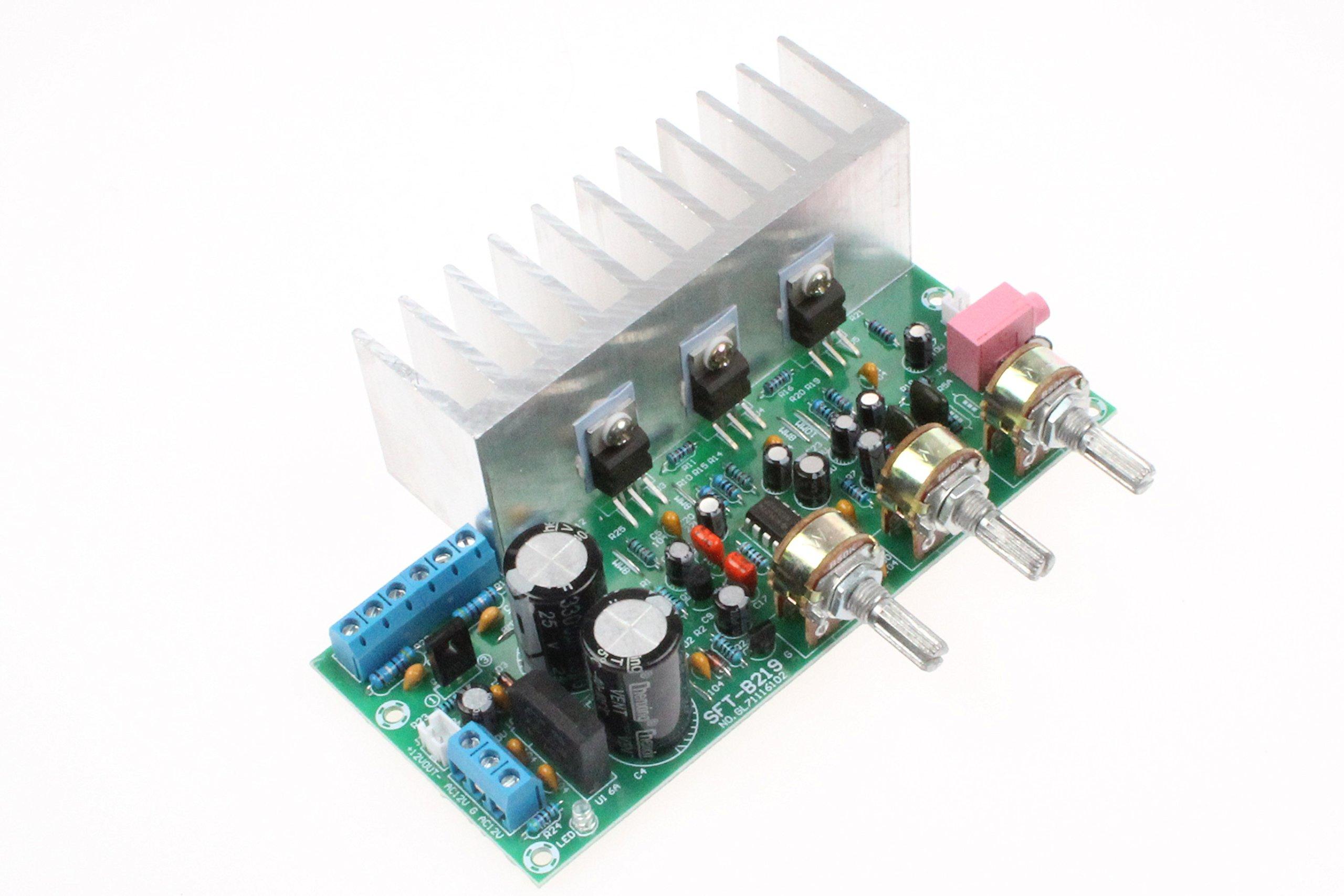 TDA2050 TDA2030 NE5532 2.1 3-Channel Hi-Fi Subwoofer Amplifier Board 18W+18W+32W Compatible with LM1875