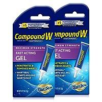 Compound W Wart Remover Fast Acting Gel, Maximum Strength Salicylic Acid, 0.25 oz...