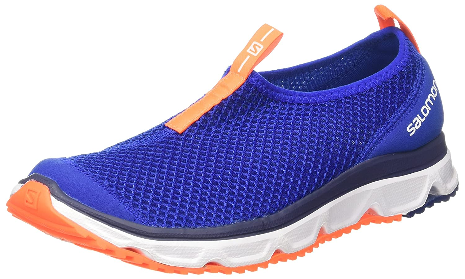 Salomon RX Moc 3.0, Zapatillas de Senderismo para Hombre 48 EU|Azul (Surf The Web / White / Shocking Orange 000)
