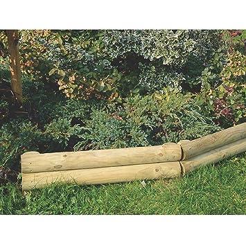 Beetumrandung Holz steckzaun 60 cm lang für beetbegrenzung aus holz beeteinfassung