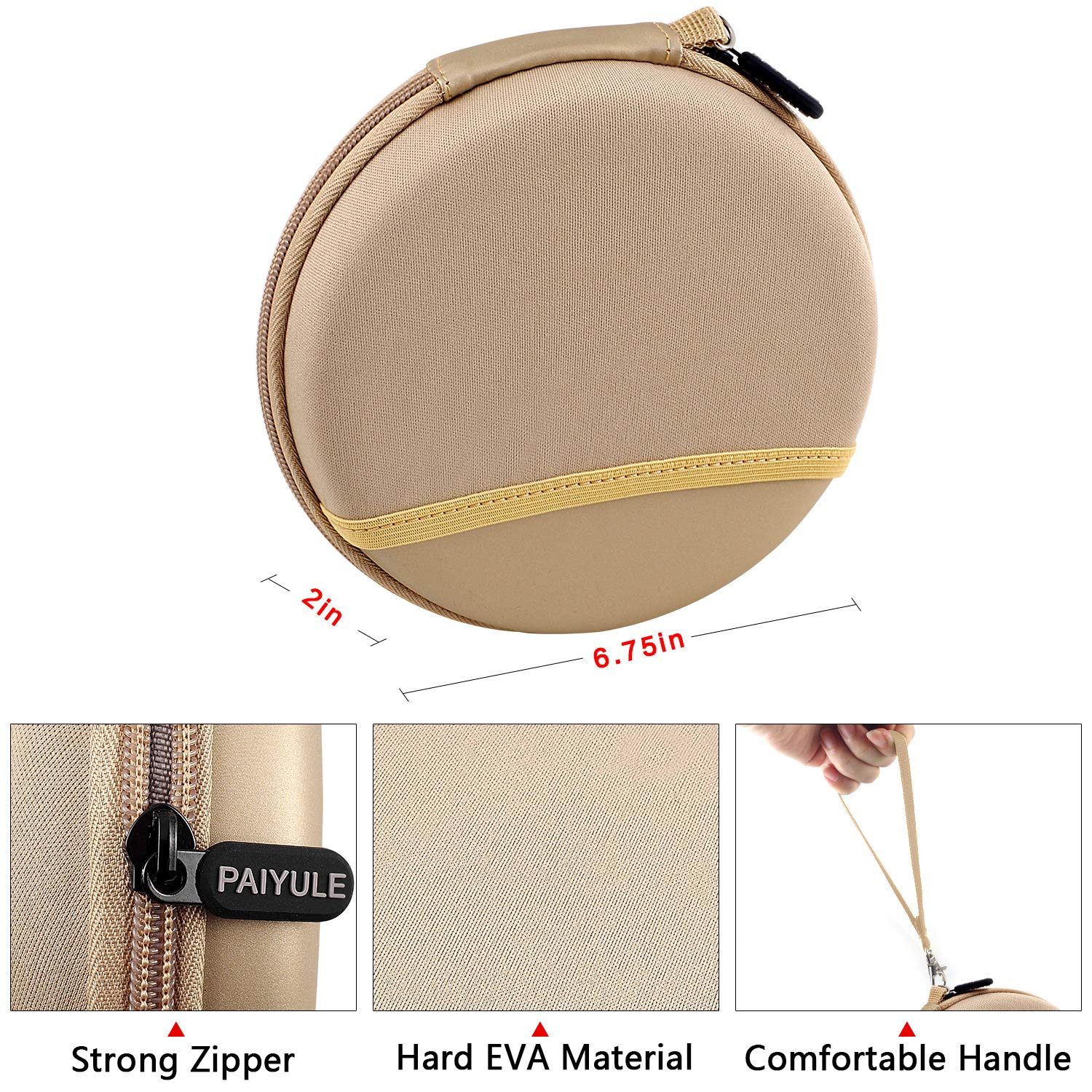 Personal Compact Disc Player CD711 Wellgain Case Compatible for HOTT Rechargeable Portable CD Player Gold CD611