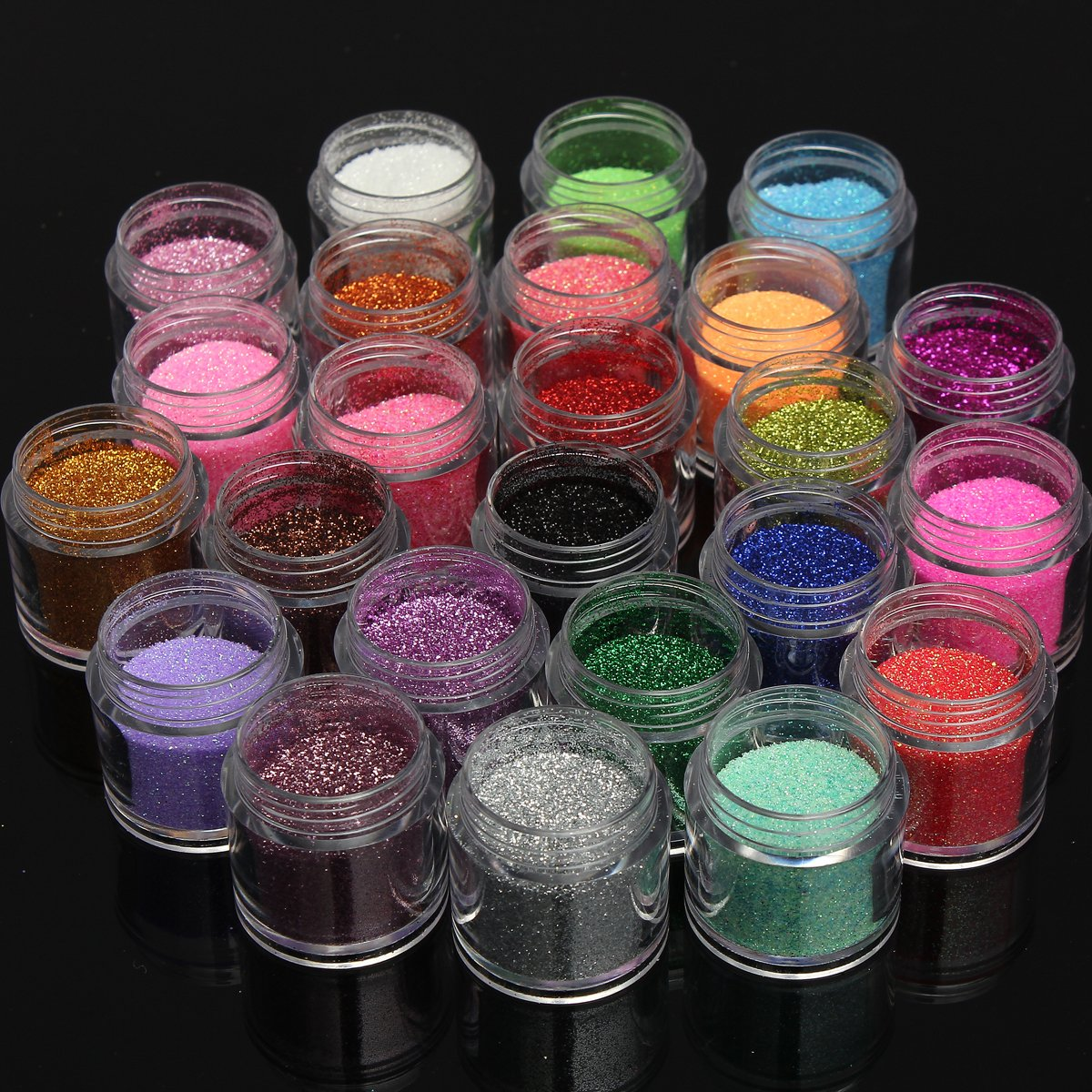 Amazon pro 24 colors pro shiny metal glitter uv powder dust amazon pro 24 colors pro shiny metal glitter uv powder dust acrylic nail art tip stamp tool beauty prinsesfo Image collections