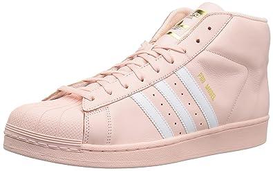 d894d435e8 adidas Originals Men's PRO Model Running Shoe, Ice Pink/White/Gold  Metallic, 9 M US