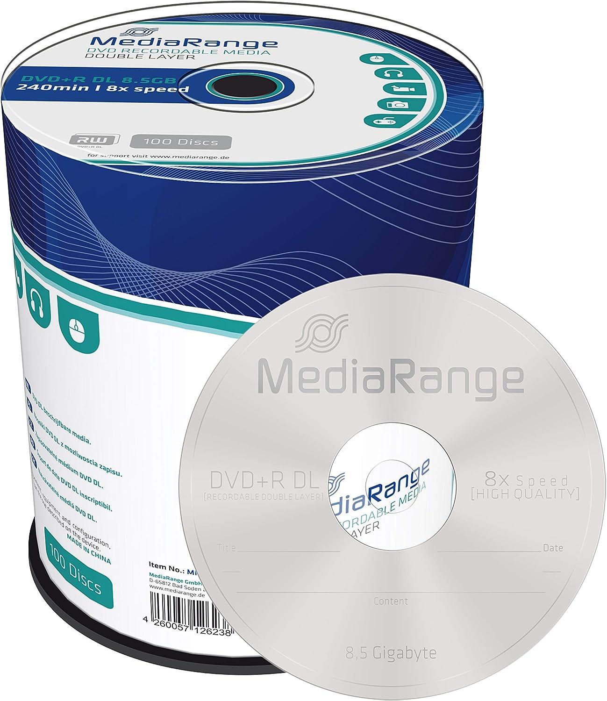 Mediarange Dvd R Double Layer 8 5gb 240min 8 Fache Computer Zubehör