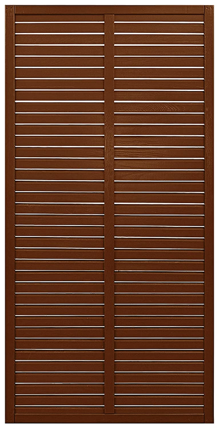 Andrewex wooden fence 180 x 90, varnished, brown, garden fence, privacy, fencing panel