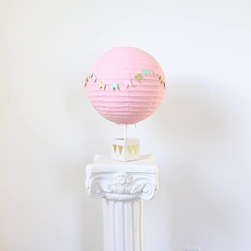 Amazoncom Pink Hot Air Balloon Baby Shower Centerpiece Decoration