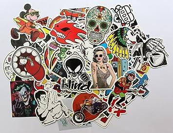100PC Random Vinyl Decal Graffiti Sticker Bomb Laptop Waterproof Stickers  Skate