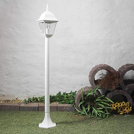 Lámpara de pie rústica en blanco E27 de hasta 60 vatios 230V ...