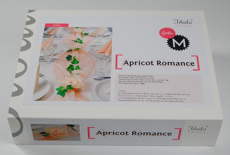 Style 8-10 Personen Fibula in apricot f/ür ca /® KomplettsetApricot Romance Gr/ö/ße S Tischdekoration f/ür Hochzeit//goldene Hochzeit//Geburtstag//Taufe//Jubil/äum usw