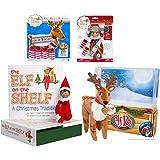 Elf on the Shelf Complete Holiday Gift Bundle: Boy Scout Elf (Brown Eyes), Cuddly Plush Reindeer Elf Pet, Christmas Tradition Storybook, A Reindeer Tradition Storybook, and (2) Matching Polar Pattern Winter Wear Sets