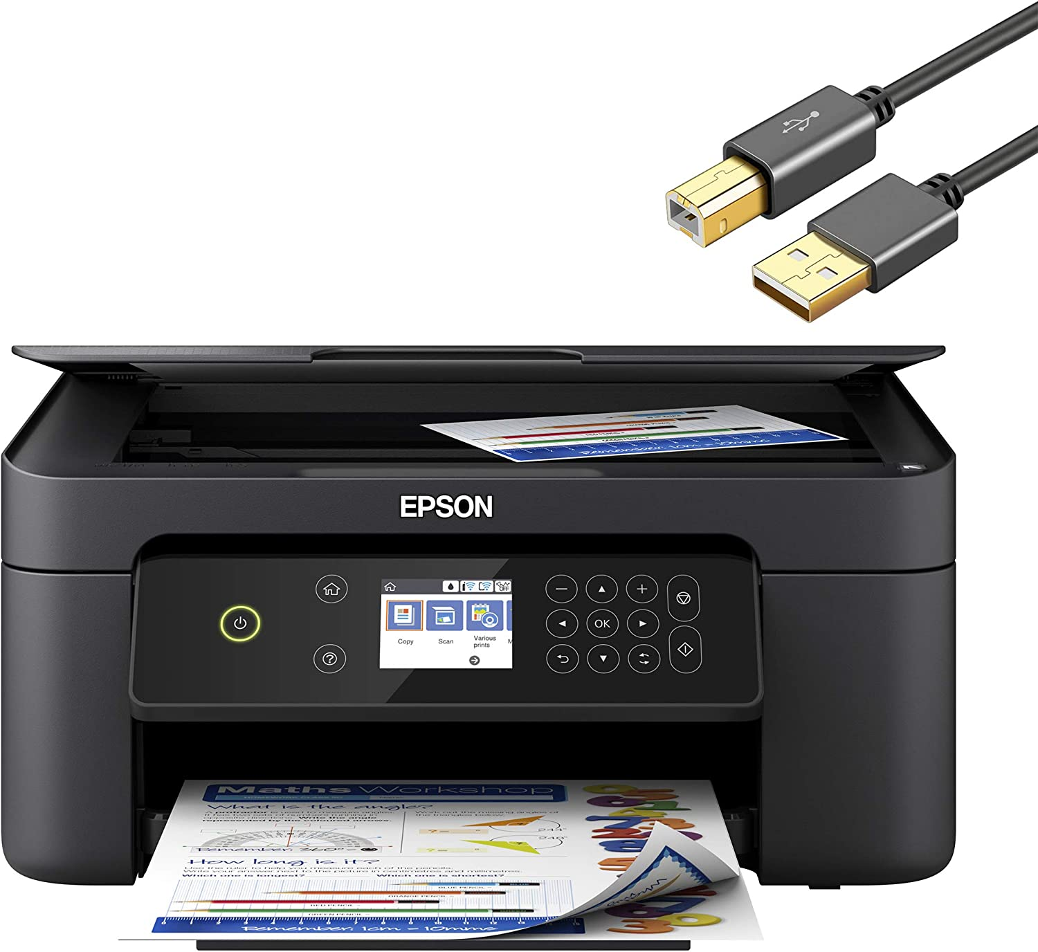 Epson Expression Home XP 4000 Series Wireless All-in-One Color Inkjet Printer for Business Office - Print Scan Copy - 2.4