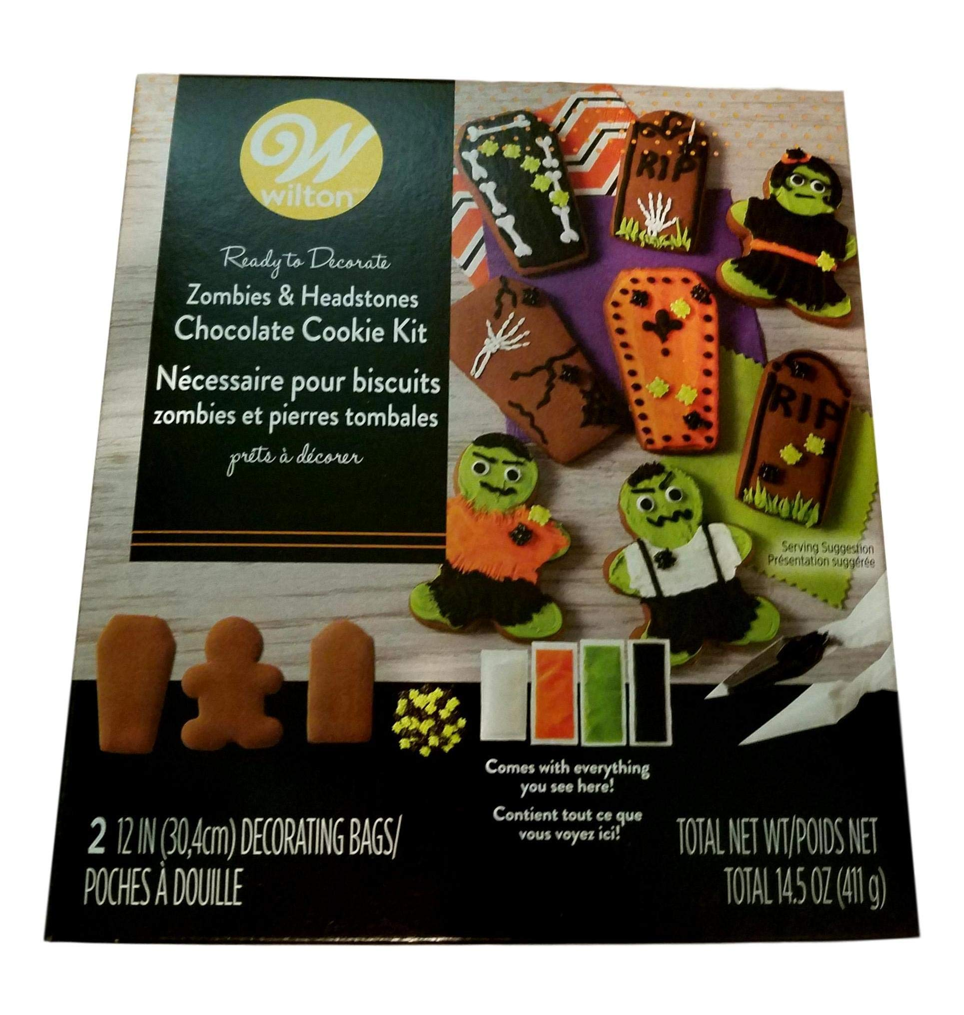 Wilton Zombie Tombstone Pre-Made Chocolate Cookie Kit