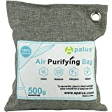 APALUS 500g Natural Air Purifying Bag. Odor Eliminator for Cars, Closets, Bathrooms and Pet Areas. Captures and Eliminates Odors. Bamboo Activated Charcoal Air Freshener, Deodorizer and Purifier Bags - 100% Natural & Chemical Free Moisture, Odor Absorber, Odor Neutralizer & Mold Removal Kit, Charcoal Color