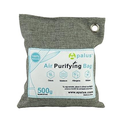 Apalus ® Bolsa de Carbón Activo De Bambú, Deshumidificador Y Purificador De Aire. Ambientador Natural Eficaz y Desodorante para Eliminar los Olores ...