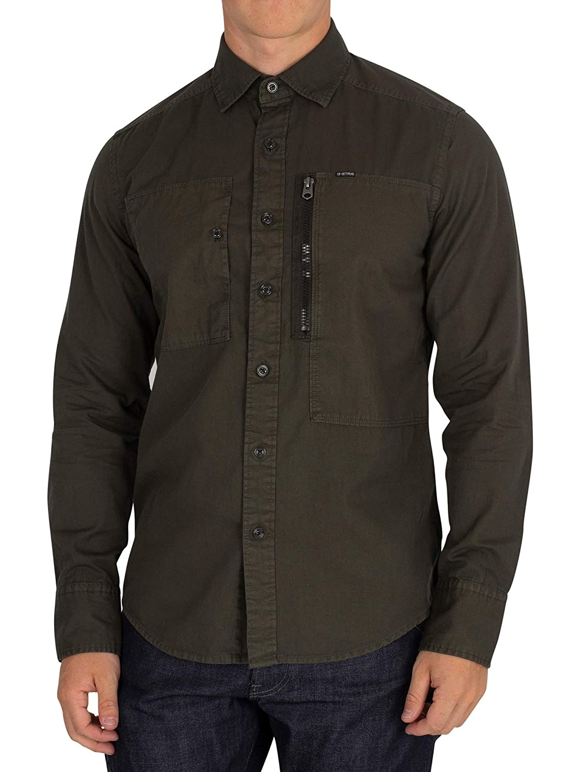 G-Star Men's Powel Slim Overshirt, Green