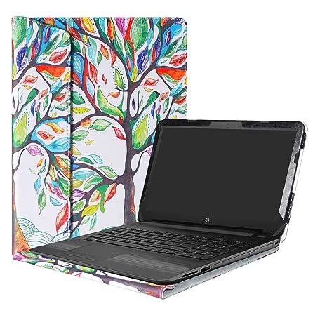 """Alapmk Diseñado Especialmente La Funda Protectora de Cuero de PU para 15.6"""" HP Notebook 15"""