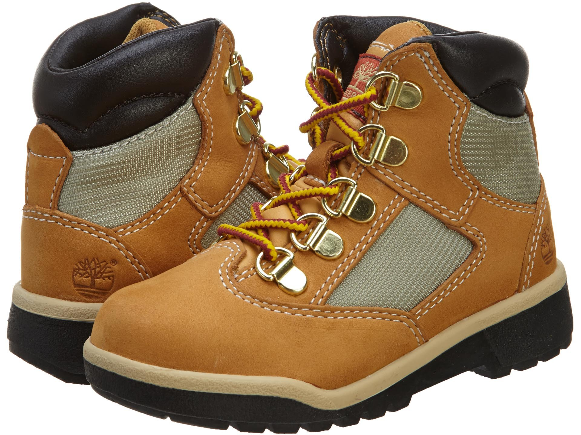 Timberland 6-Inch Leather and Fabric Field Boot (Toddler/Little Kid/Big Kid),Wheat Nubuck,11.5 M US Little Kid