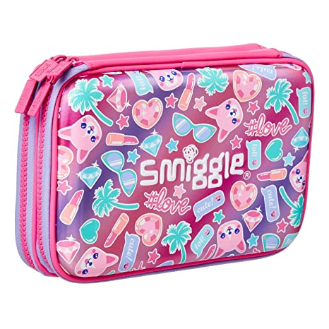 brand new 3461d ee71f Amazon.com: Smiggle Stylin' Double Up Hard Top Pencil Case from ...