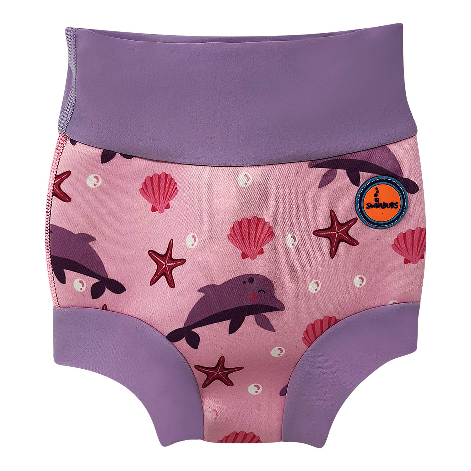 Baby Swimming Nappy Kids Reusable Swim Diaper Girls Costume Boys Swimshorts (24-36 Months, Pink Dolphin) Swimbubs