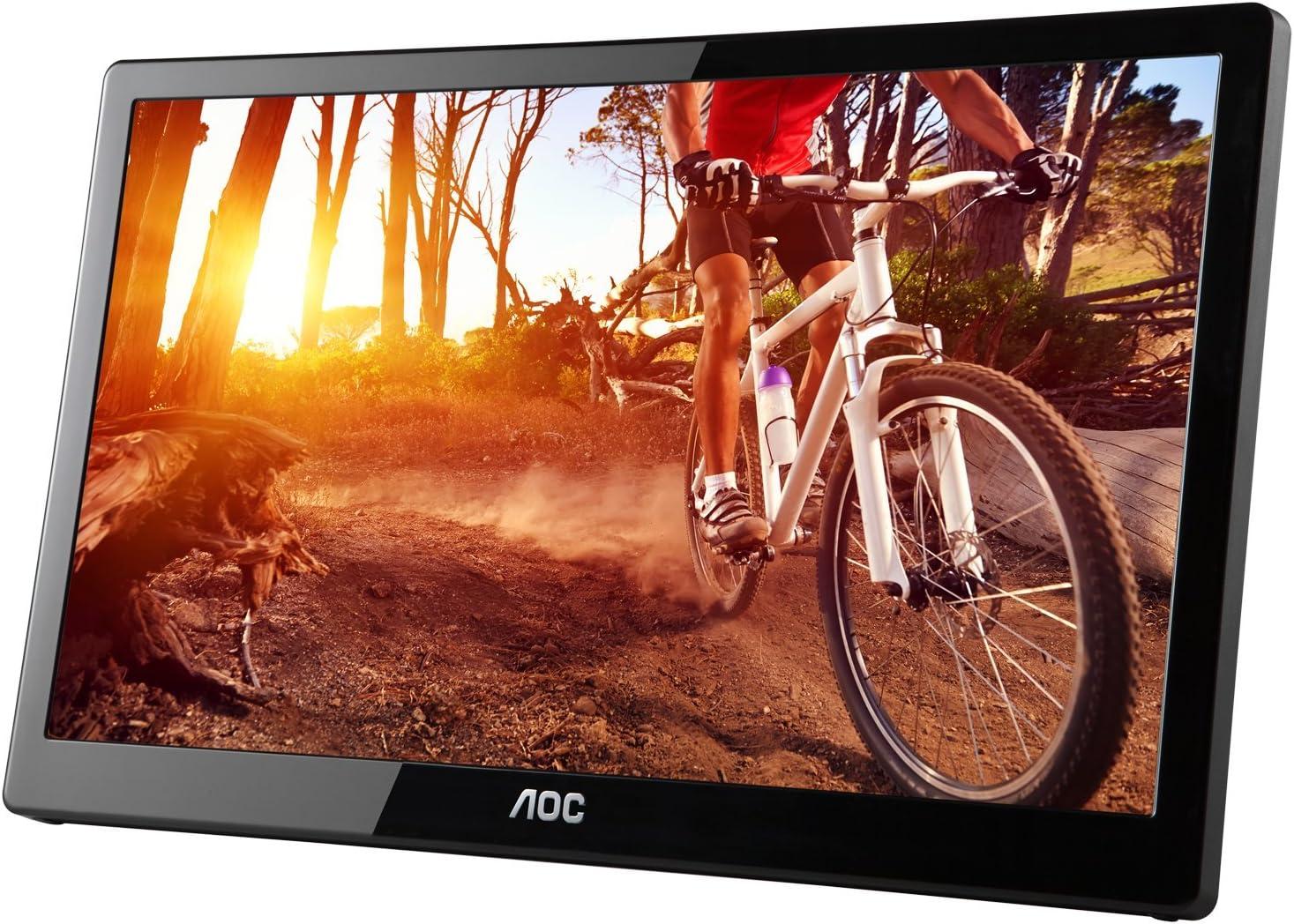 "Glos... 15.6/"" Widescreen Flat-Panel USB 3.0-Powered Portable LED Monitor AOC"