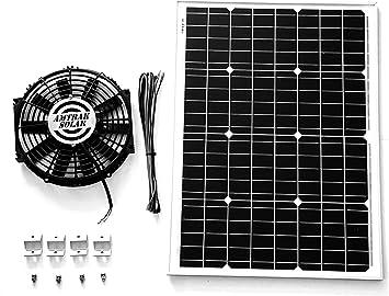 20w Solar Fan Solar Greenhouse Fan Ventilator Ventilation System Garden Shed