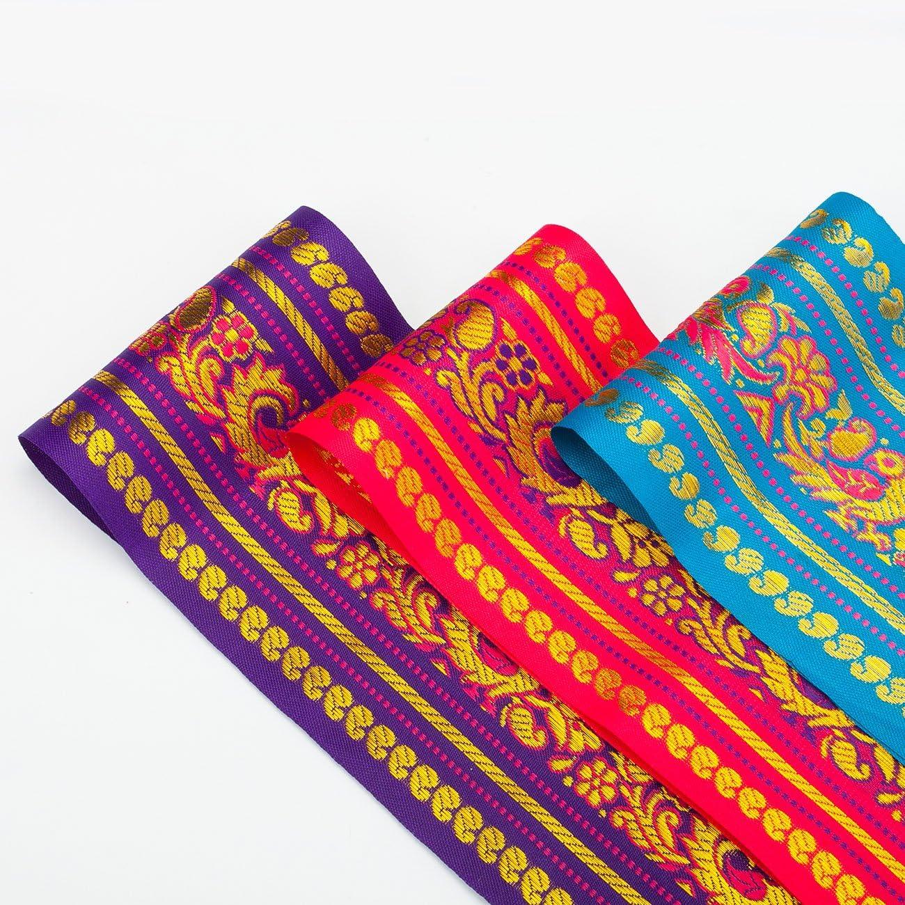 Neotrims Sari Indiano Salwar Kameez Decorativo Metallico Nastro Orlo Bordo