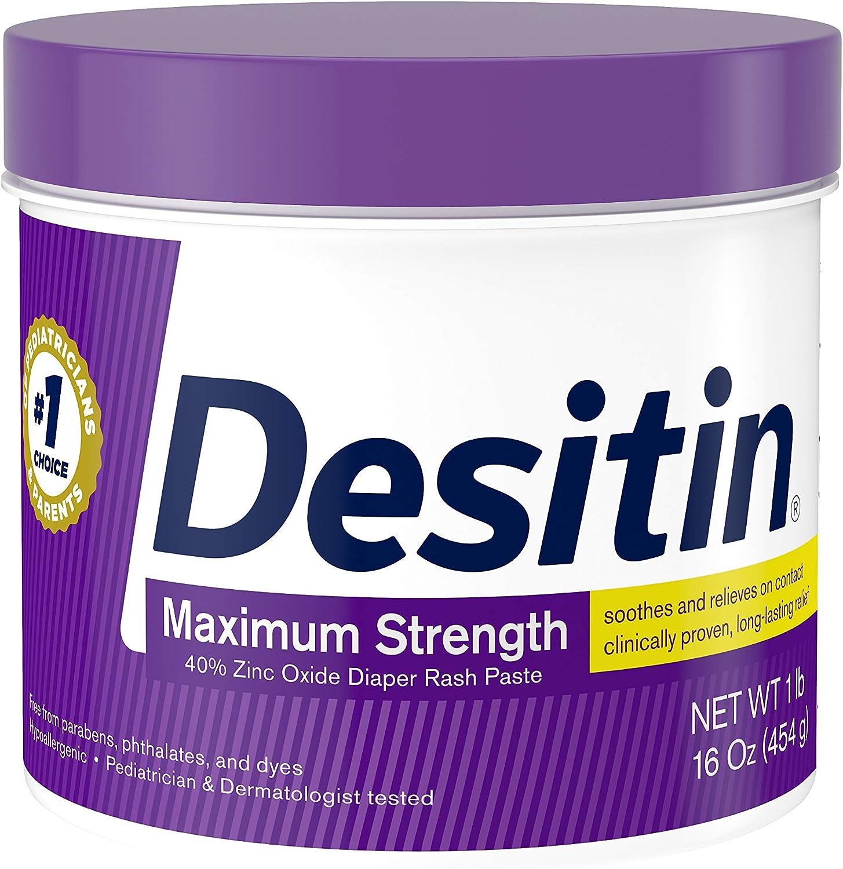 B00BH0PZBG Desitin Maximum Strength Baby Diaper Rash Cream with 40% Zinc Oxide for diaper rash Relief & Prevention, 16 oz 81fBJvZoV1L