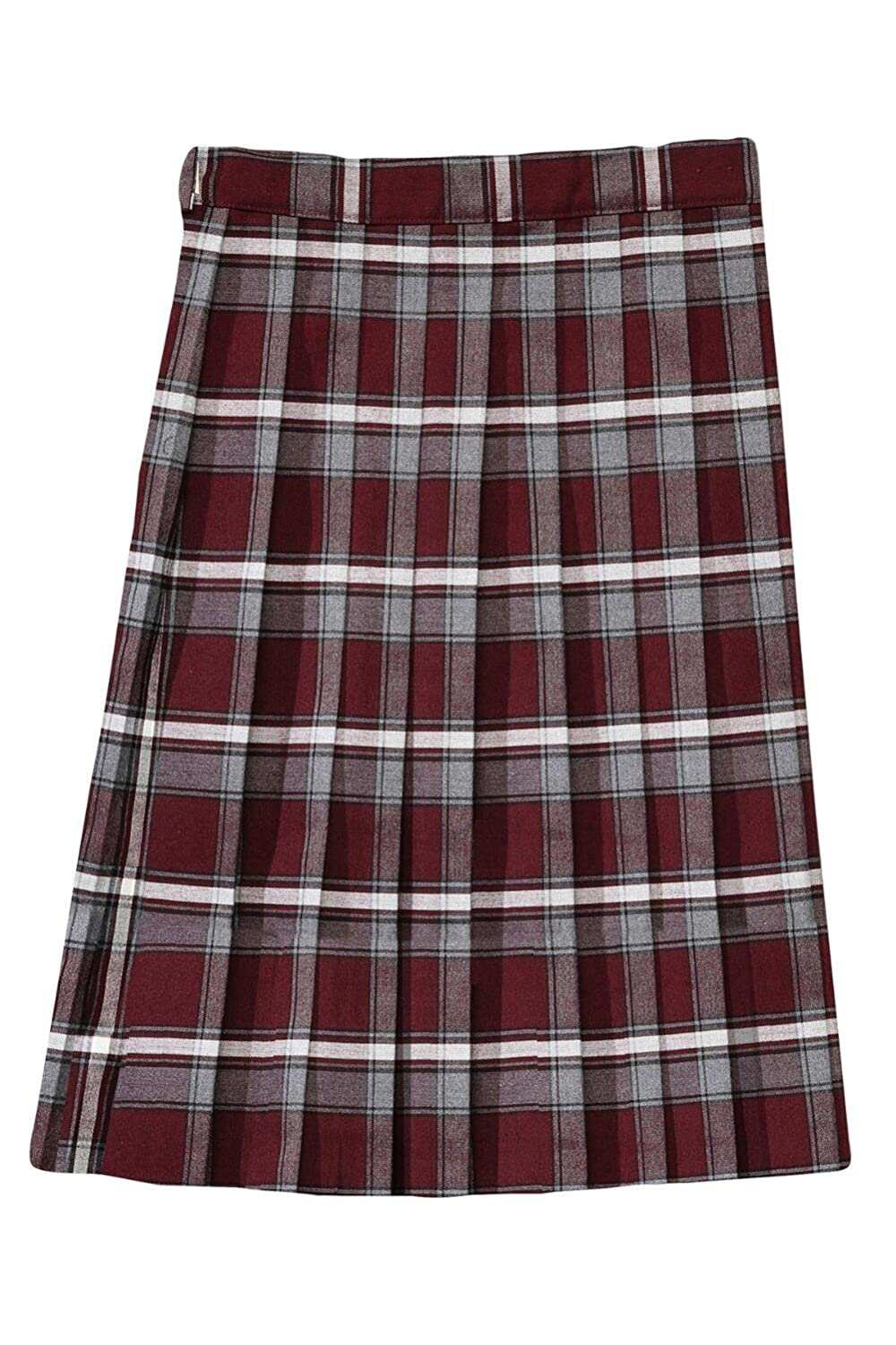 French Toast Below The Knee Plaid Pleated Skirt(Plus Size) French Toast School Uniforms 1575U