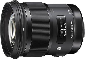 4021221604 Sigma 50 mm, f/1.4 - Objetivo para Sony, montura de tipo A, (13/8, apertura  f/1.4-16, 1x) negro: Amazon.es: Electrónica